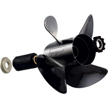 """Hustler Aluminium 4 Pales - 70 à 115 Cv  (Johnson 4 temps) - Embase 4""""1/4 - 15 Cannelures"""